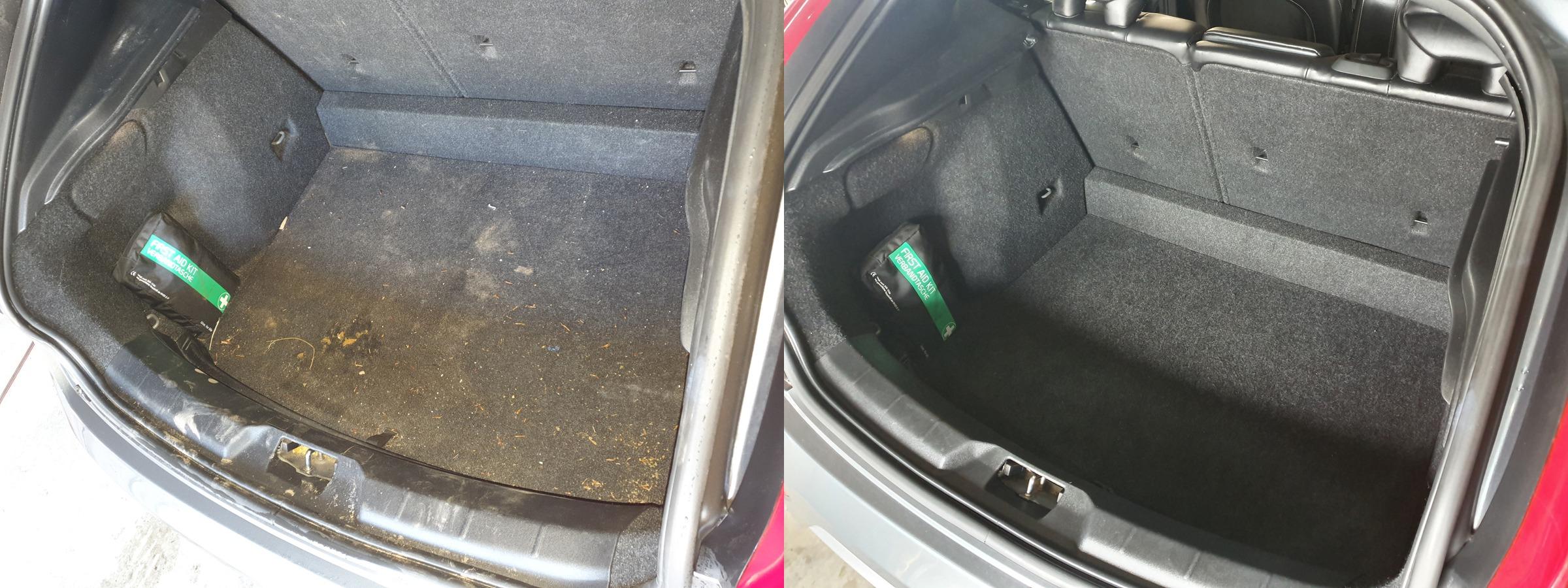 vlekken in autobekleding verwijderen